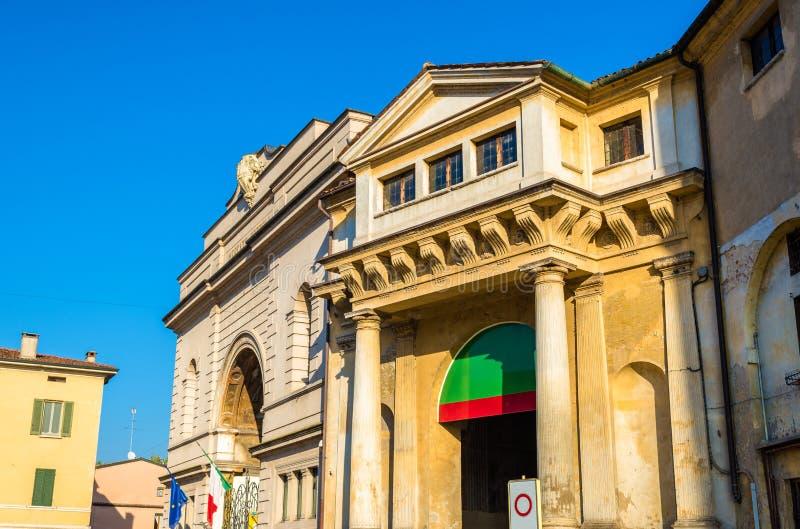 Detalhes de Palazzo Ducale em Mantua foto de stock royalty free