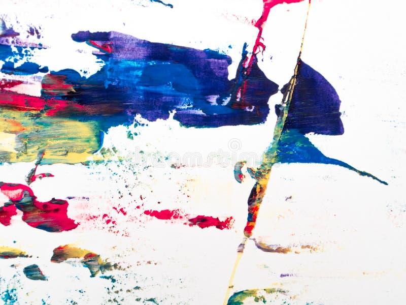 Detalhes de pintura modernos acr?licos com contraste vibrante foto de stock