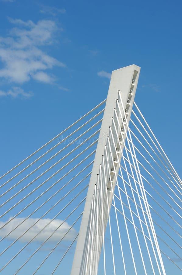 Detalhes de ponte moderna foto de stock royalty free