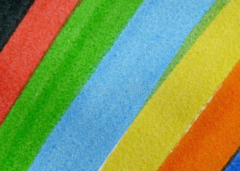 Detalhes de um arco-íris pintado fotos de stock royalty free