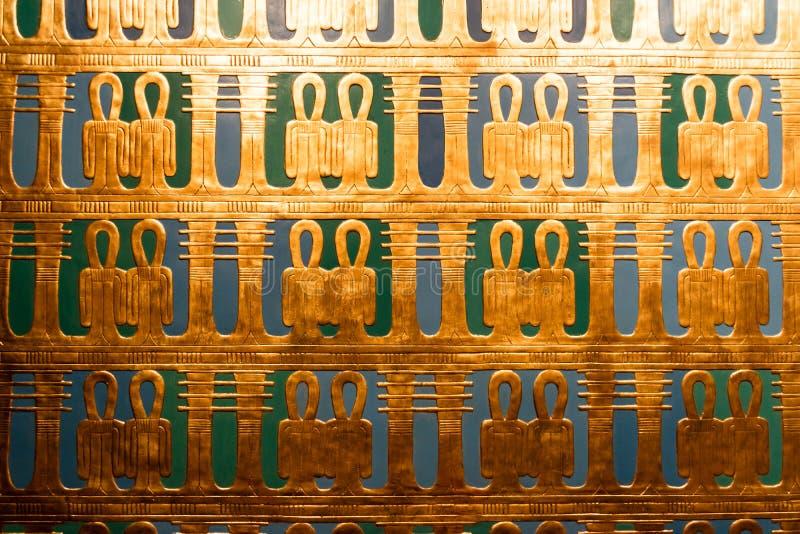 Detalhes de um museu egípcio fotografia de stock