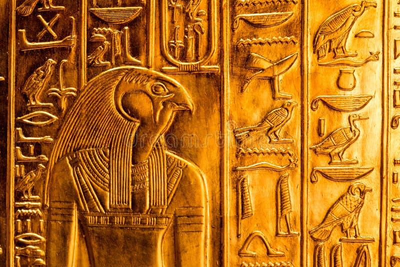 Detalhes de um museu egípcio foto de stock