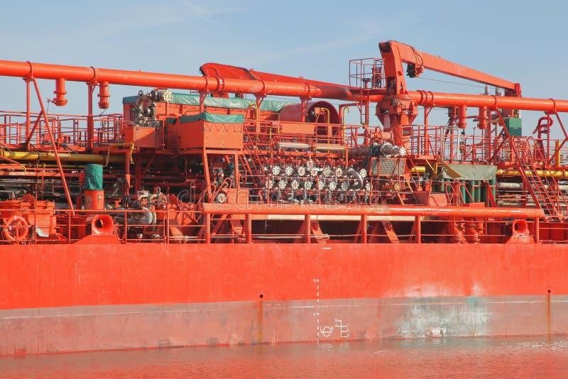 Detalhes de um petroleiro fotografia de stock royalty free