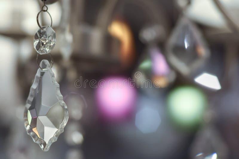 Detalhes de uma máscara de lâmpada de cristal fotografia de stock