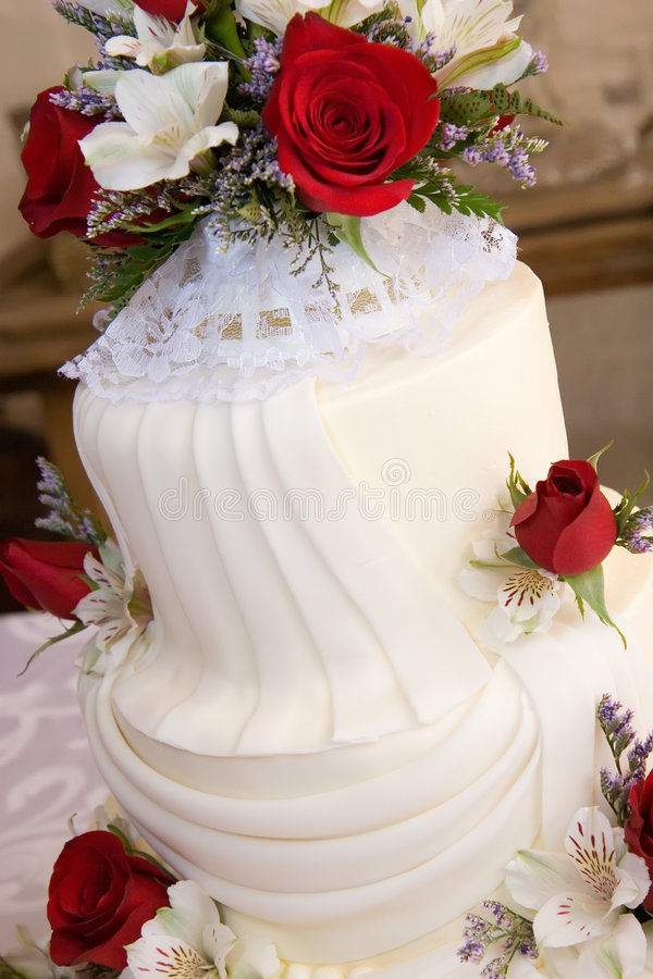 Detalhes do bolo de casamento fotos de stock