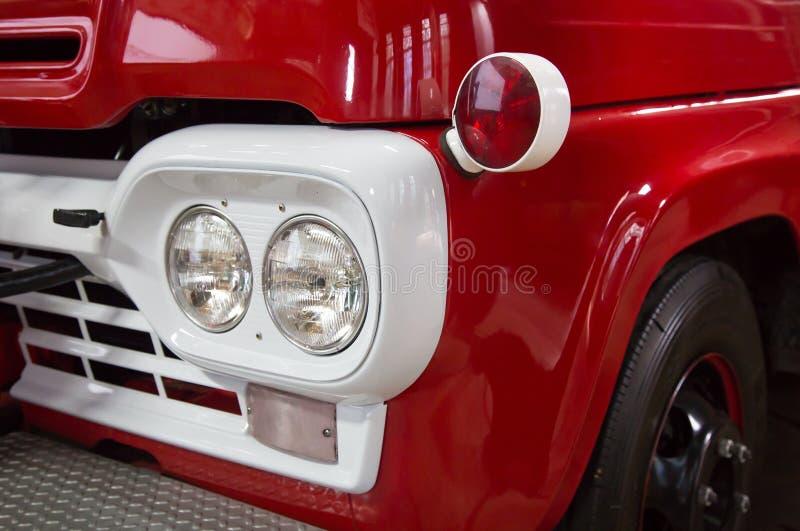 Detalhes do carro de bombeiros do vintage fotografia de stock