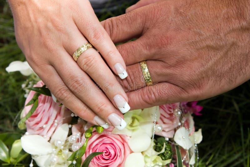 Detalhes do casamento foto de stock