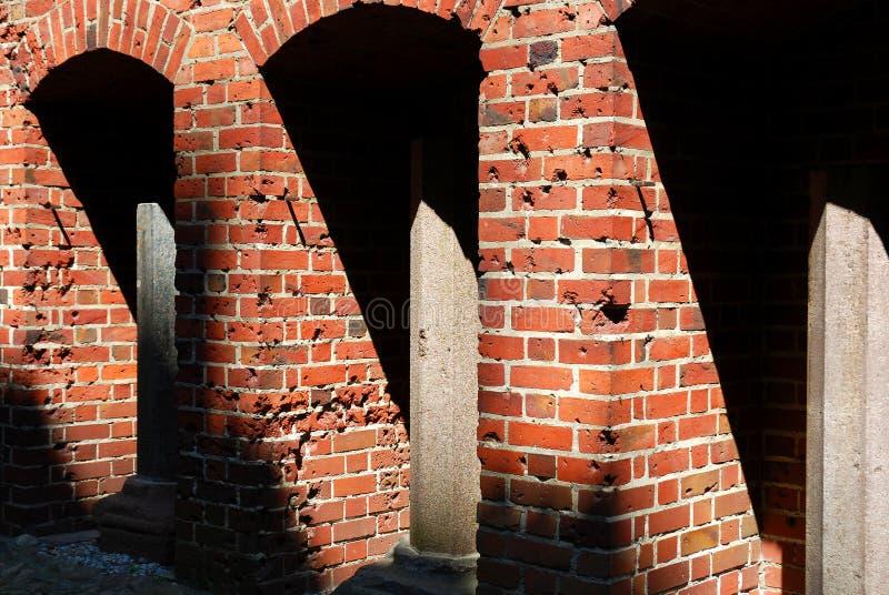 Detalhes do castelo de Malbork imagens de stock royalty free