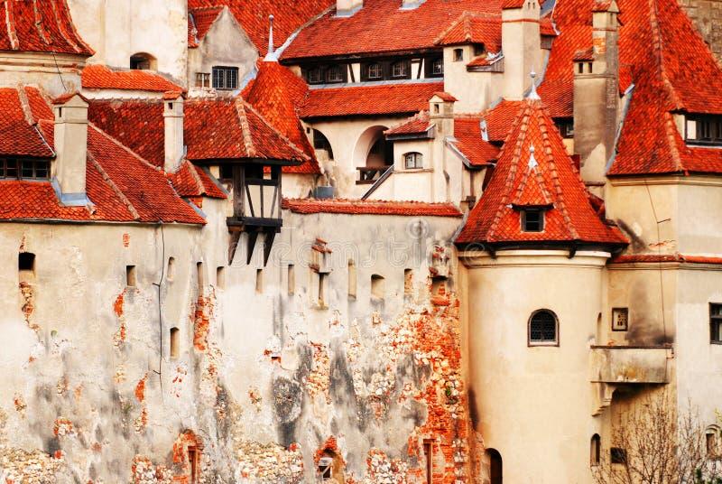 Detalhes do castelo do farelo foto de stock royalty free
