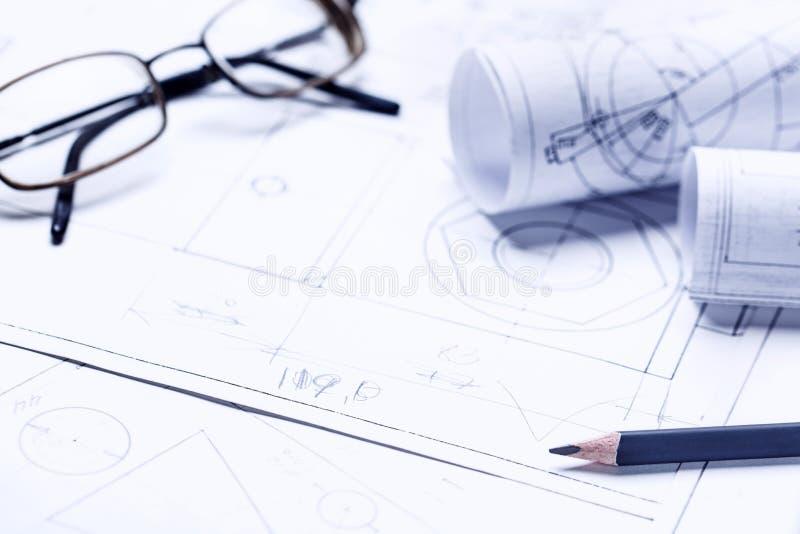 Detalhes do desenho e dos vidros industriais fotos de stock royalty free