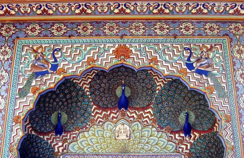 Detalhes do exterior da arquitetura da Índia fotografia de stock