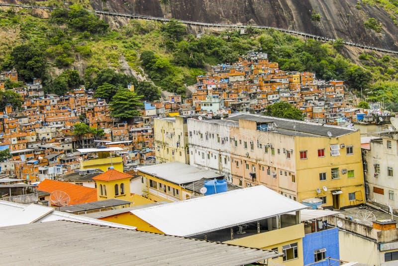 Detalhes do favela de Rocinha em Rio de janeiro imagem de stock