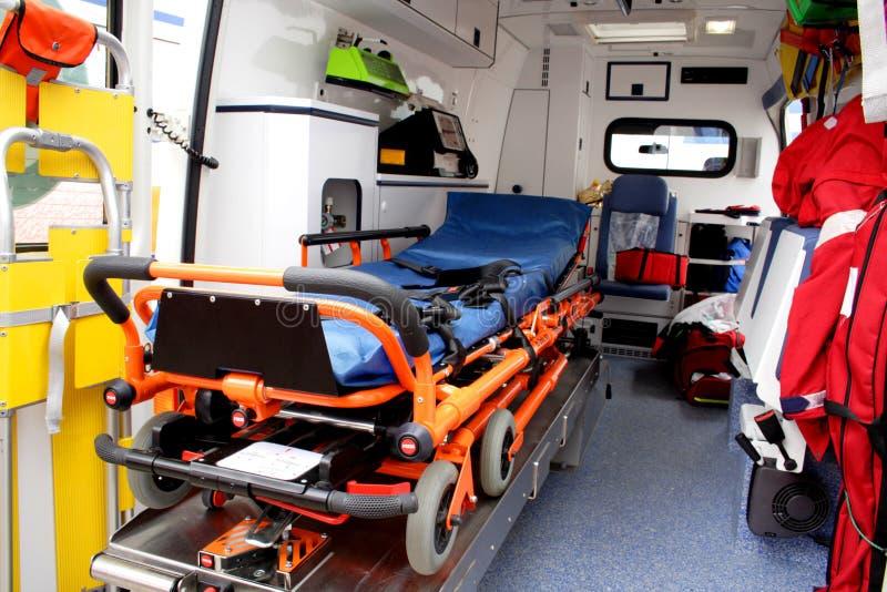 Detalhes do interior da ambulância imagens de stock royalty free