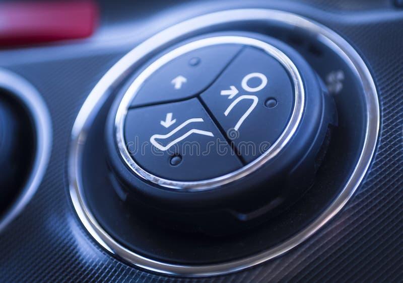 Detalhes do interior do ar do carro imagens de stock royalty free