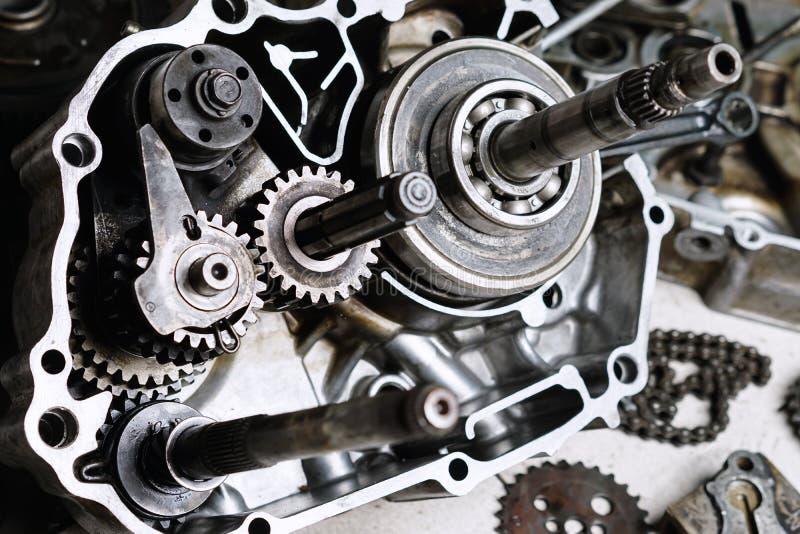 Detalhes do motor da motocicleta fotos de stock royalty free