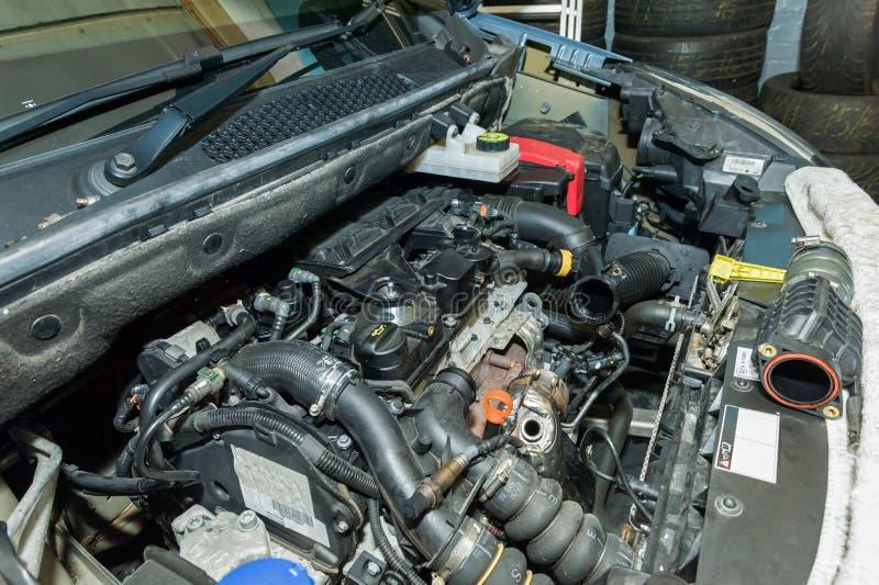 Detalhes do motor de automóveis foto de stock royalty free