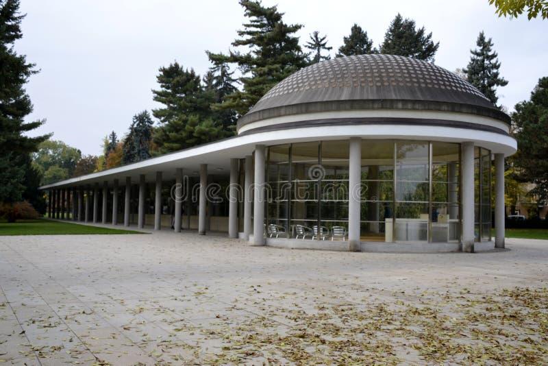 Detalhes do parque de Podebrady fotografia de stock