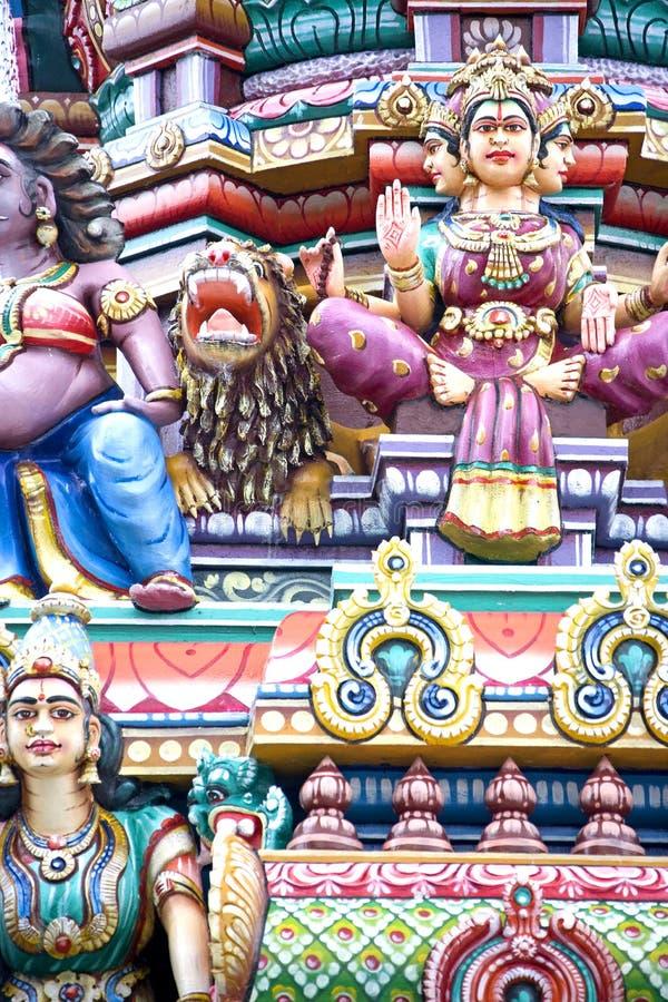 Detalhes do templo Hindu fotografia de stock royalty free