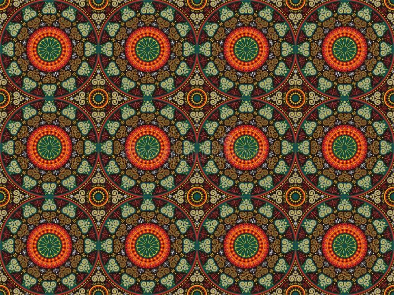 Detalhes e círculos dos ornamento dos testes padrões ilustração do vetor
