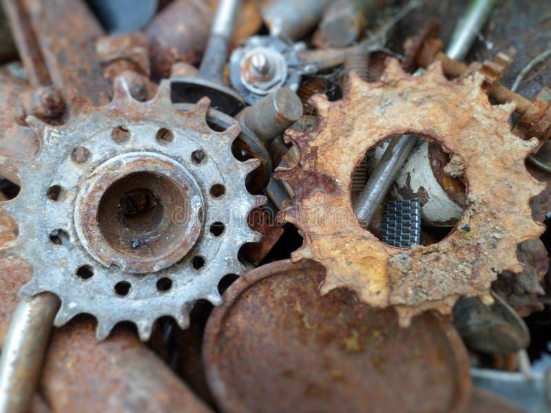 Detalhes metálicos oxidados fotografia de stock royalty free