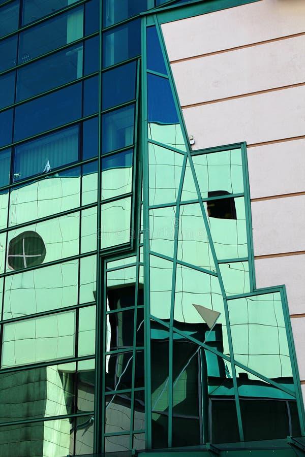 Detalhes modernos da arquitetura, Wroclaw, Polônia imagens de stock