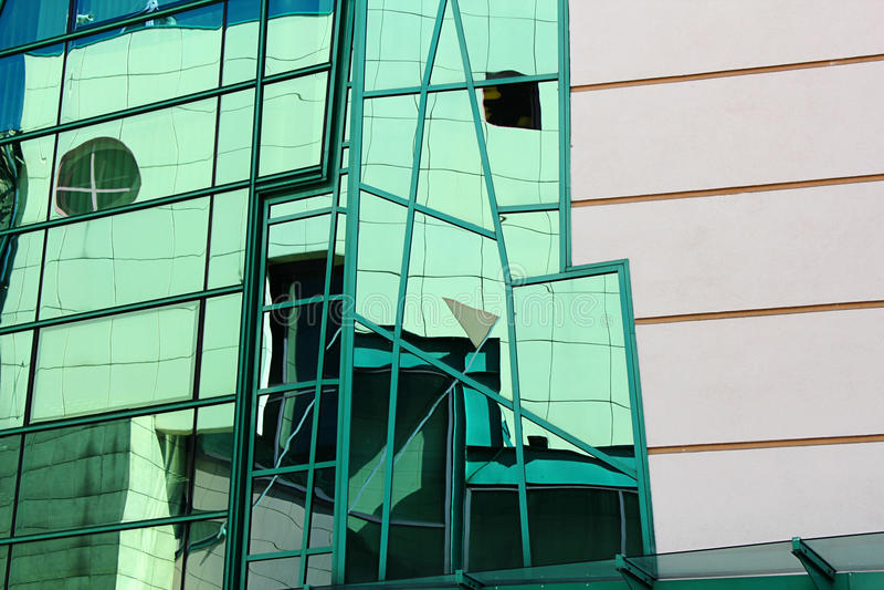Detalhes modernos da arquitetura, Wroclaw, Polônia fotografia de stock royalty free