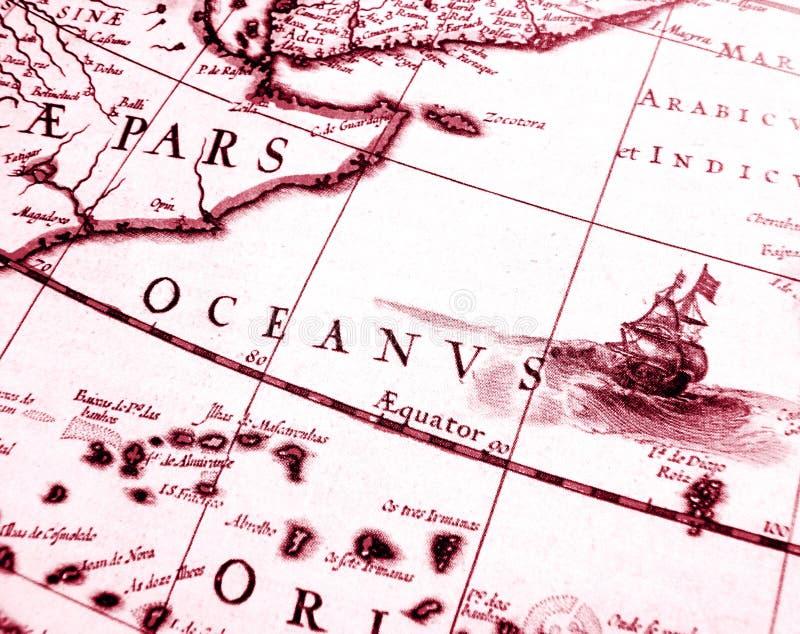 Detalhes na carta antiga da navigação foto de stock royalty free