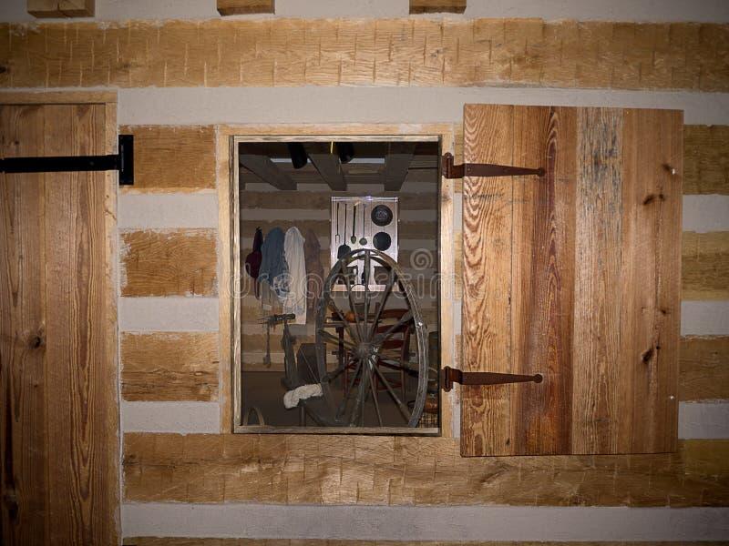 Detalhes no café rústico em Bardstown Kentucky fotografia de stock