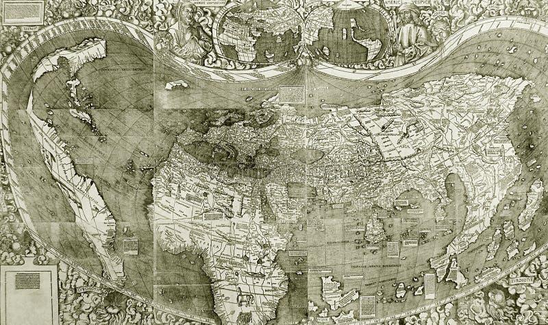 Detalhes no mapa velho imagens de stock royalty free