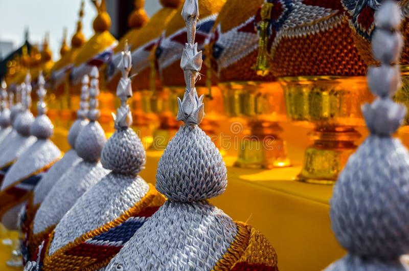 Detalhes no templo em Banguecoque/Tailândia imagens de stock
