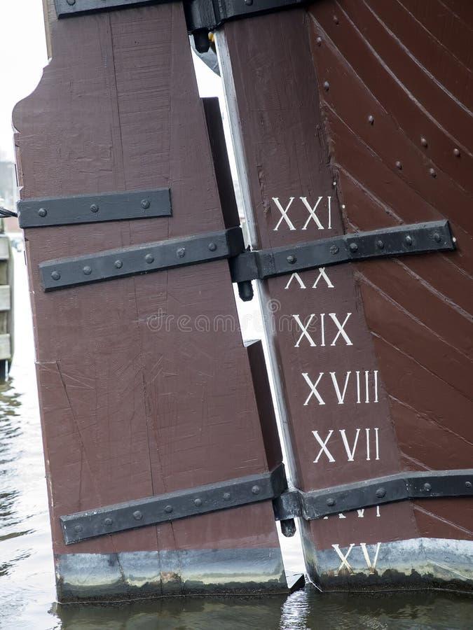 Detalhes velhos do navio fotografia de stock