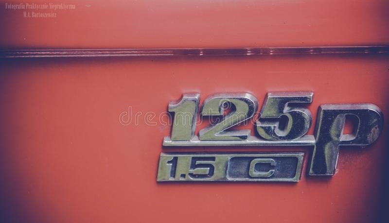Detali gammal bil arkivbild