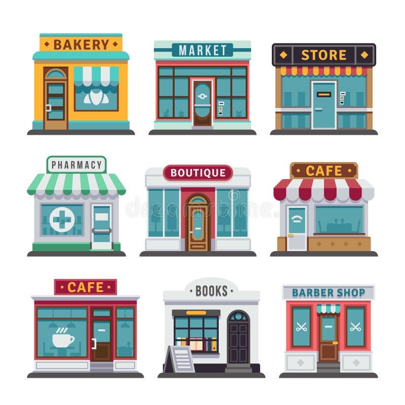 Detalicznego biznesu miastowy sklep, sklep royalty ilustracja