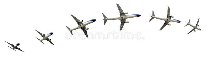 Detalis de vol d'avion dans des chemins image libre de droits