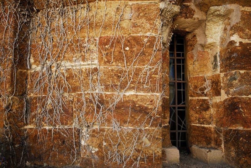Detalj av absid i kloster av San Clodio, Lugo landskap, Sp arkivbild