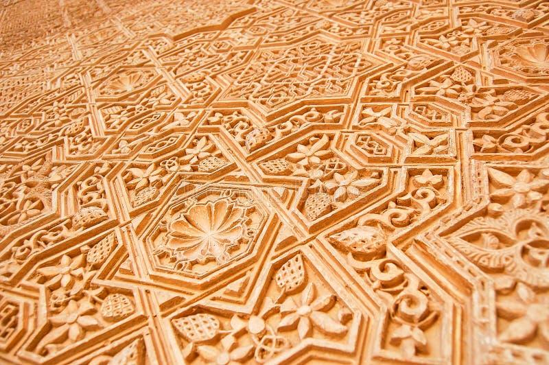 Detalj av Alhambraen royaltyfria foton