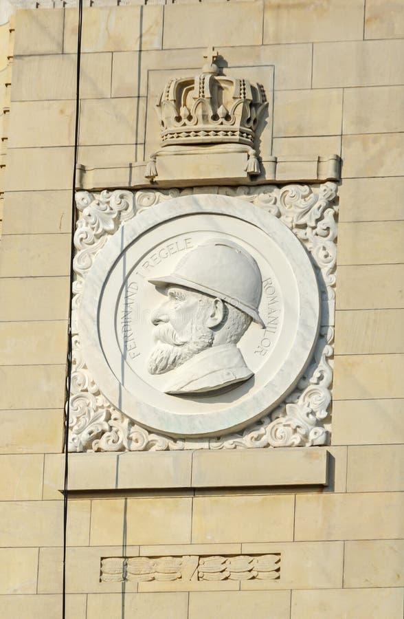 Detalj av bågen av Triumph Arcul de Triumf från Bucharest royaltyfria foton