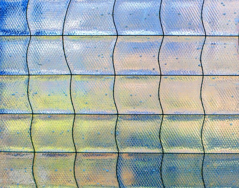 Detalj av den abstrakta glass mosaiken fotografering för bildbyråer