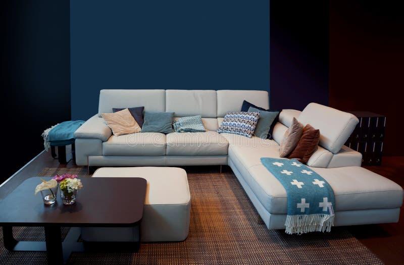 Detalj av den blåa hemmiljön arkivfoto