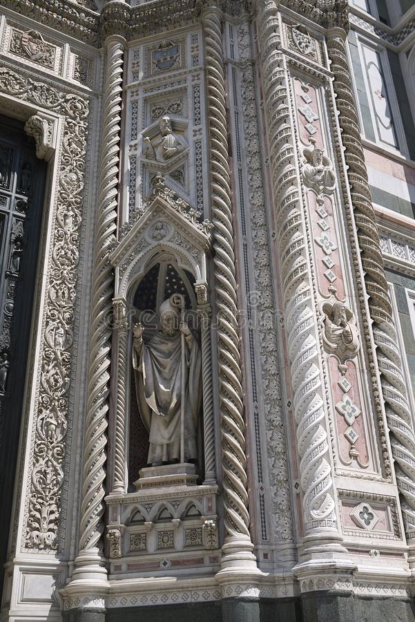 Detalj av den Florence domkyrkan royaltyfri bild