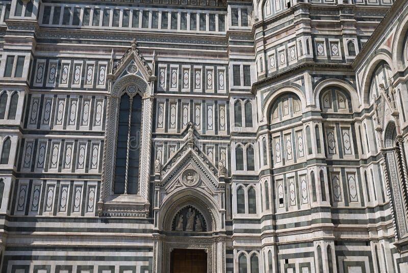Detalj av den Florence domkyrkan arkivfoton