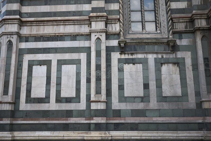 Detalj av den Florence domkyrkan arkivbilder