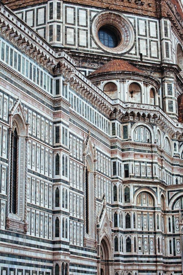 Detalj av den Florence domkyrkan arkivbild