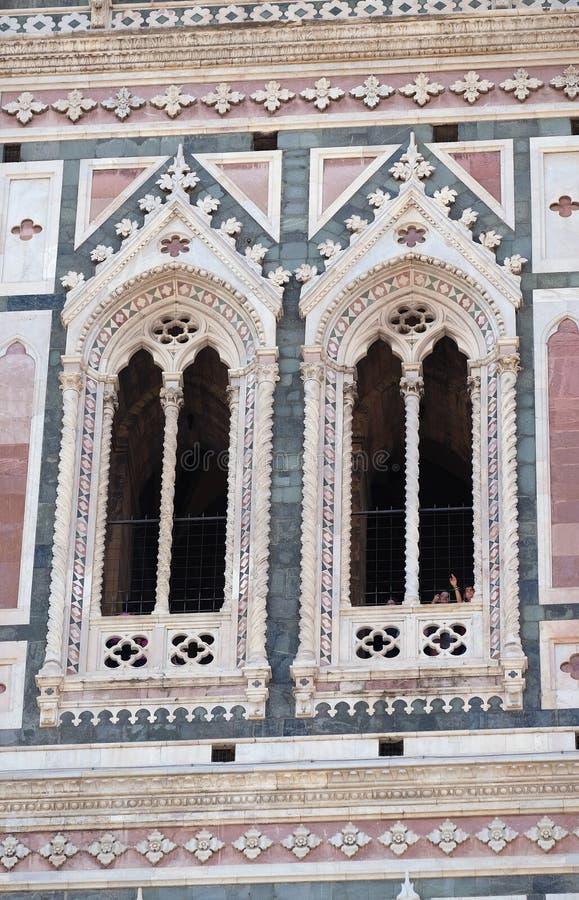 Detalj av den Florence domkyrkan fotografering för bildbyråer