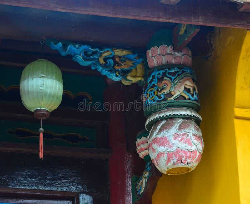 Detalj av den kinesiska pagoden royaltyfria foton