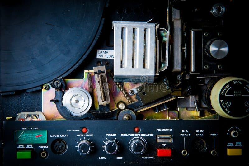 Detalj av den 8mm projektorn arkivfoton