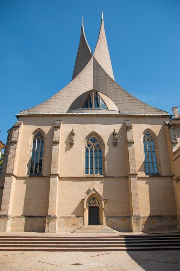 Detalj av den moderna arkitekturen av den Emmaus kloster arkivfoton