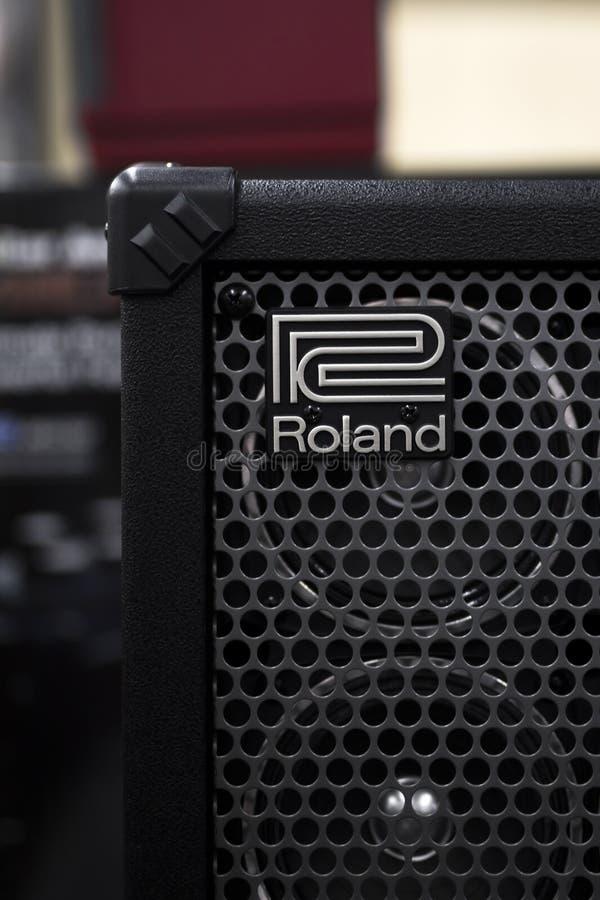 Detalj av den Roland förstärkaren fotografering för bildbyråer