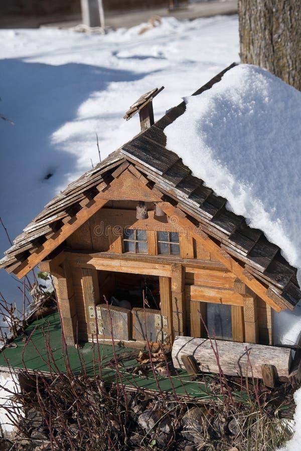 Detalj av den schweiziska husskalamodellen arkivbild