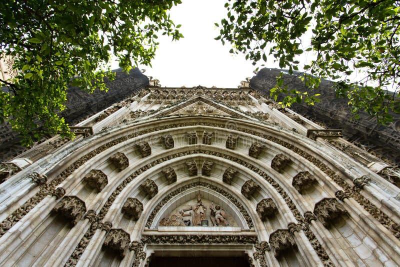 Detalj av den Seville domkyrkan, St Mary av se, i Seville, royaltyfria foton